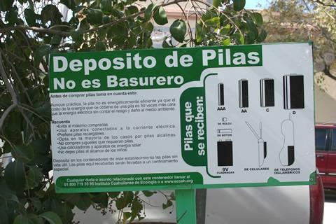 Centro de acopio de baterias usadas