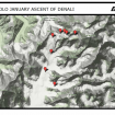Mapa del progreso de Lonnie Dupre en el Denali