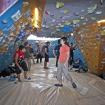 La zona de boulder más grande. Durante las competencias se utuliza como zona de aislamiento para los escaladores. Y también puede llegar a usarse de dormitorio en eventos especiales de escalada. Foto: Carlos Rangel