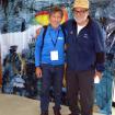 Carlos Soria junto a Kurt Diemberger. La leyenda de Dinosaurios del Perú Era parte de una película que se promocionaba en el Inkafest. Foto: Inkafest