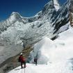 Retorno despues de la Cumbre del Nevado Pisco. Foto: Eric Albino