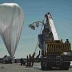 El globo que llevaría a BAumgartner a la estratósfera.
