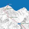 Ruta planeada por Kuriki para ascender por la arista oeste del Everest. Foto cortesía de su sitio web