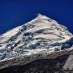 La cumbre norte del Huascarán desde el suroeste. Foto: Carlos Rangel