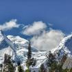 Algunas cumbres de los Huandoy, vistas desde Mancos. Foto: Carlos Rangel