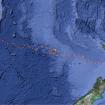 Ruta seguida por Cas y Jonesy a través del Mar de Tasmanial. Nótese las vueltas que le hicieron dar la tormenta.