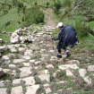 Otra espectacular bajada al poblado de Ayash, de donde inicia el ascenso de la mejor parte del camino Inca ( A mi parecer ) Foto: Sergio Ramírez Carrascal