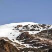 Glaciar Noroccidental y paredes rocosas de la cara del muerto. Foto: Ricardo Constante