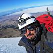 Parte final del glaciar previo a las grietas de vapor y a la cima. Foto: Ricardo Constante