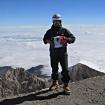 En la cima del Volcán al fondo la ladera Norte del cráter. Foto: Ricardo Constante