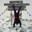 En la cumbre del Kilimanjaro. Foto: David Liaño.