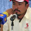 En conferencia de prensa. Foto: Archivo de Benjamín Salazar.