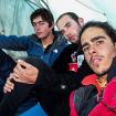 Perú 2008. Camamento Base Alpamayo. De izquierda a derecha, Santiago Jaime,  Diego E. Wynter, Daniel Araiza