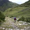 Ascenso al tercer paso de altura disfrutando el empedrado Inca. Foto: Sergio Ramírez Carrascal