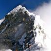 Una cresta sur hacia la cumbre inusualmente poco transitada.  Foto: David Liaño