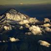 Popocatépetl desde un avión. Foto: Dr Carlos AMG.